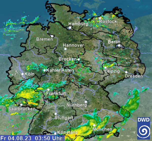 Wetterradar Dortmund